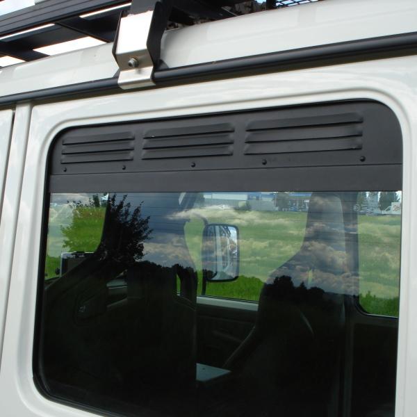 Frischluftgitter Seitenfenster hinten Mercedes G, Bj. 79-, 5-türig (Satz)
