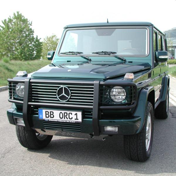 Frontbügel Mercedes G - 463 schwarz,  abklappbar, bis Modelljahr 2012