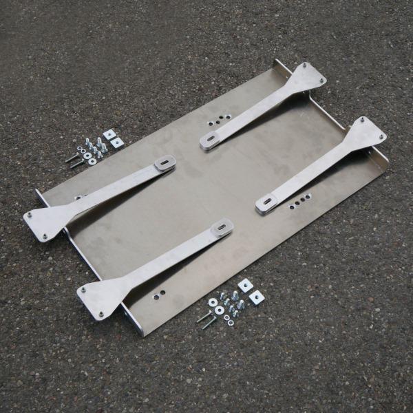 Montageplatte für Kühlbox WAECO CFX40 aus Alu für PUR/Professional
