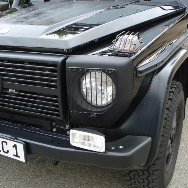 Blinkergitter vorne Mercedes G (alle Modelle bis 2018), schwarz, (Paar)