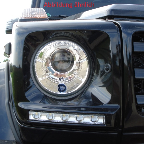 Bi-Xenon Nachrüstsatz Mercedes G 463 (Original wie ab 2007 verbaut) Optik chrom