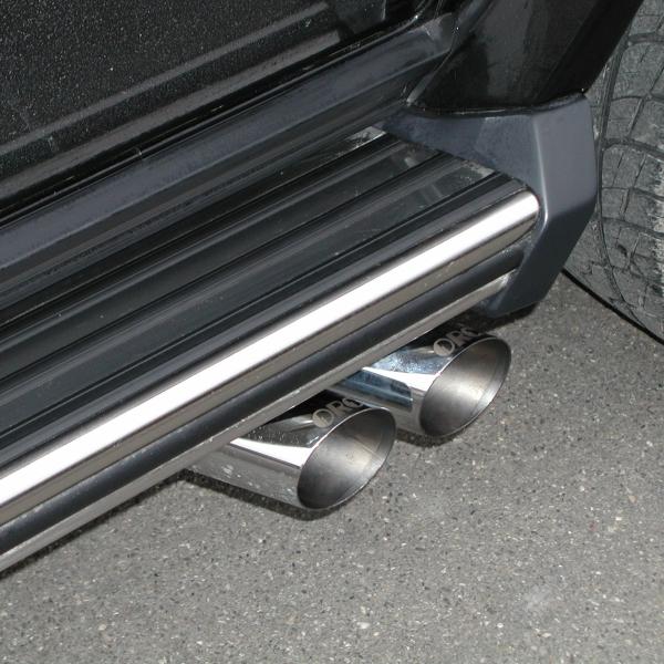 Sport-Auspuff Mercedes G  -11/2000 BM 463 zum Anbau mit Trittbrettern