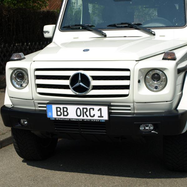 Kühlergrill grundiert, Mercedes G 3-Lamellen-Design, Typ 463, inkl. Mercedes-Stern