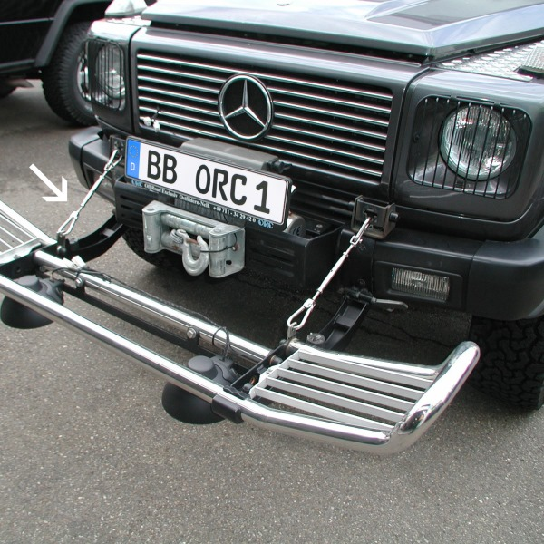 """Jagdhalter-Set """"ORC"""" für abklappbaren Frontbügel Mercedes G"""