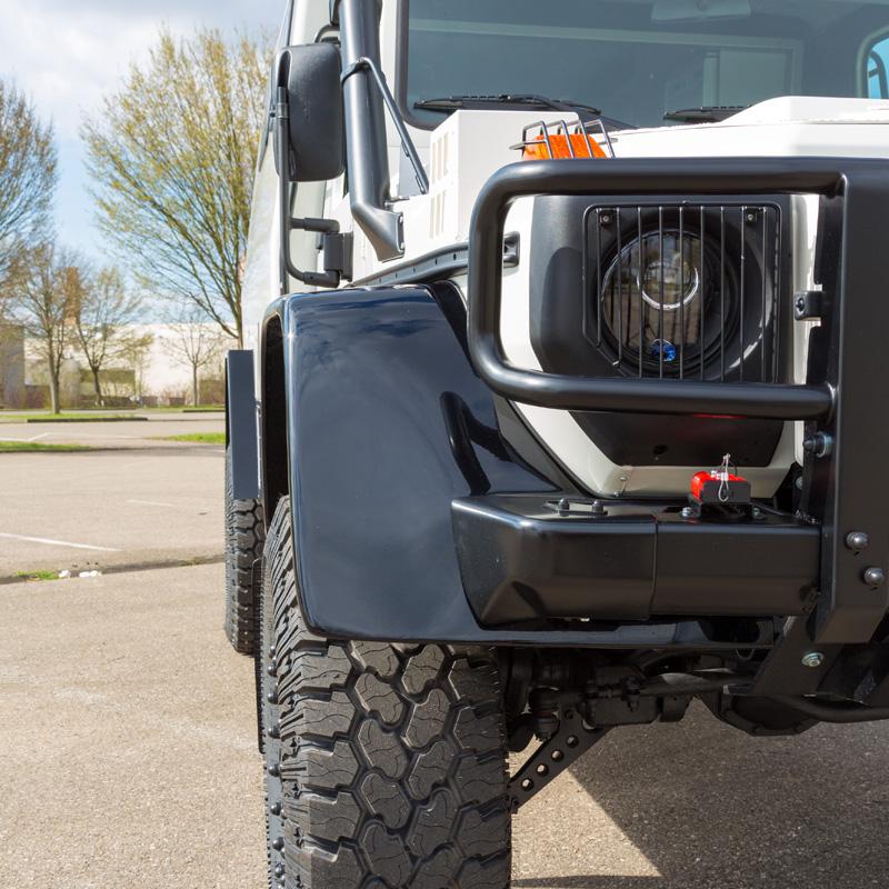 Kotflügelverbreiterung Mercedes G 461 Professional Fahrgestell Vorderachse
