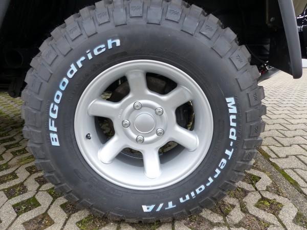 "alloy wheel ""type 27"" 8 x 16 off set +5, silver"
