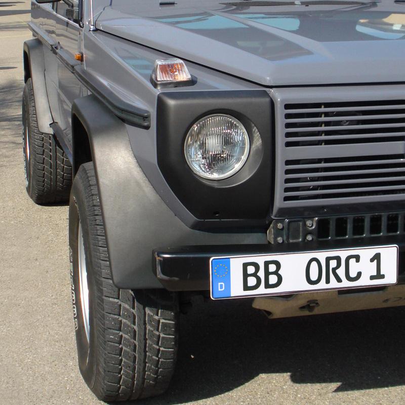 Kotflügelverbreiterung Mercedes G Typ 460/461 PU-RIM 10/8,5 cm (Satz)