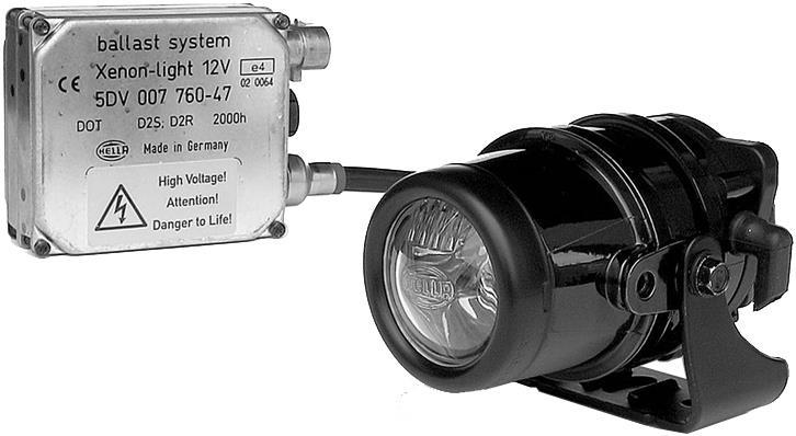 Fernscheinwerfer HELLA  DE Xenon rund 76 mm, schwarz, 12 V  (Paar)