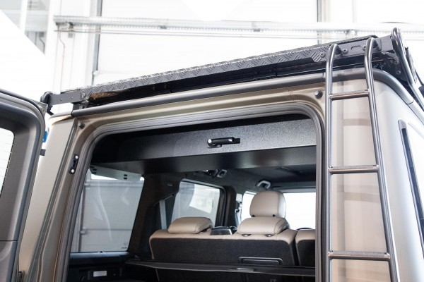 ORC roof box/weapon safe, foldable + lockable Mercedes G from 2018 on, black