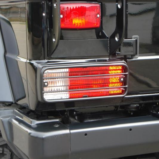 Rückleuchtenschutzgitter Mercedes G schwarz, G463 bis 2018 + PUR/Professional  (Paar)