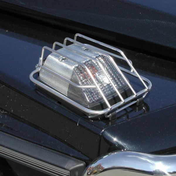 Blinkergitter vorne, Mercedes G (alle Modelle bis 2018), Edelstahl poliert (Paar)
