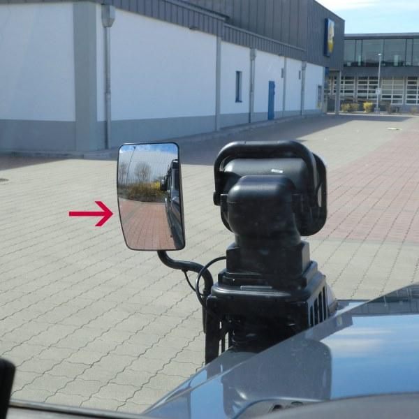 Zusatzrückspiegel mit Spiegelhalterung, passend für Kotflügelkonsole, vorne links
